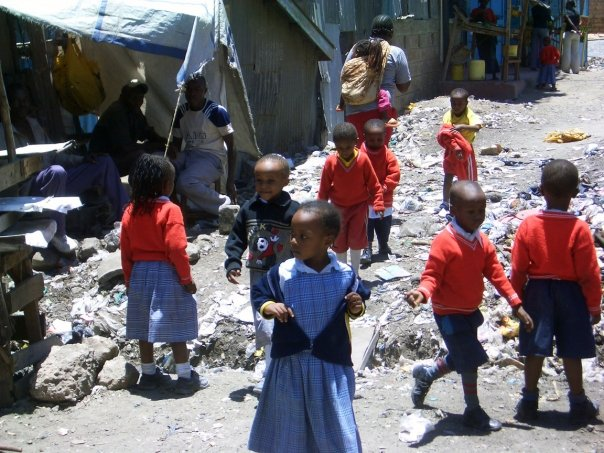Nairobi - Kids Crossing Sewer Ditch.jpg