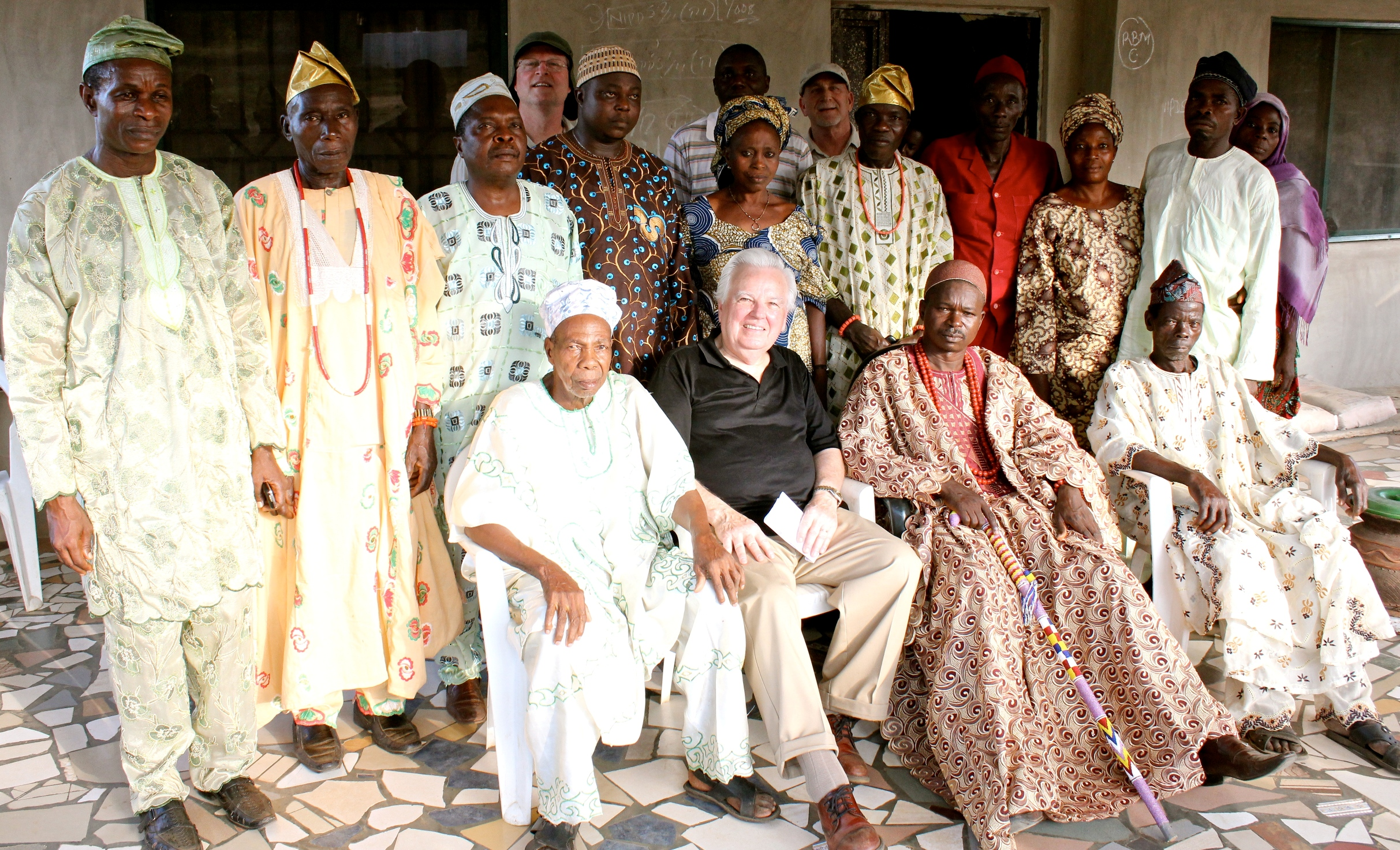 David With Elders of a Nigerian Village