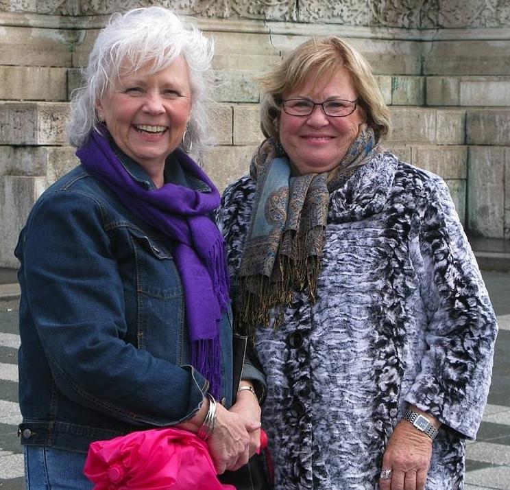 Karen and Charlene in Budapest
